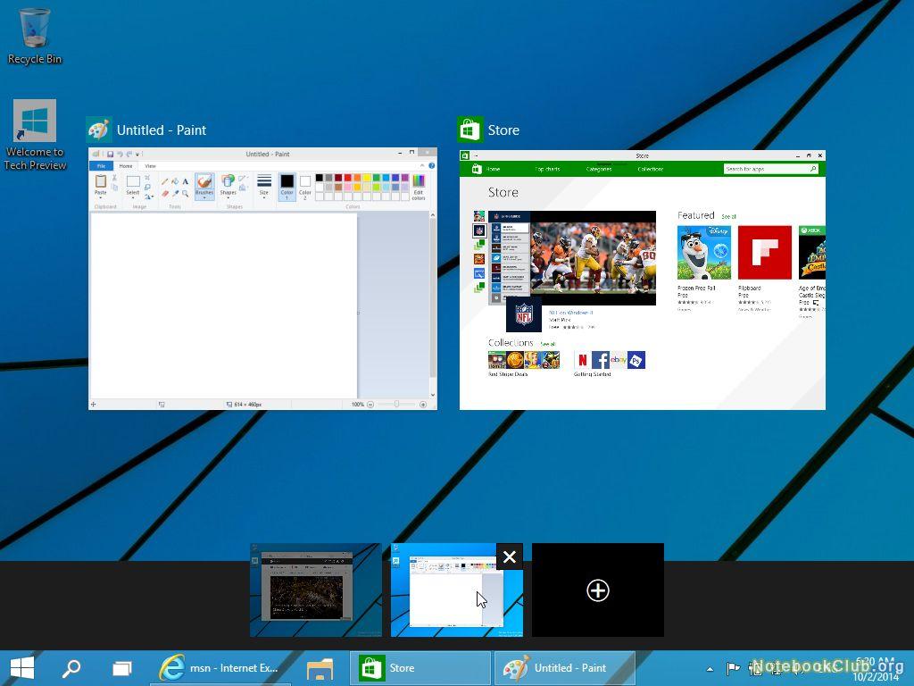 Множественные рабочие столы Windows 10